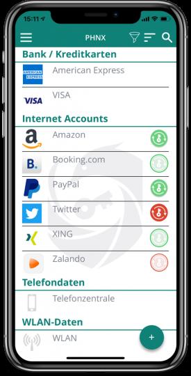 Account-Übersicht DE